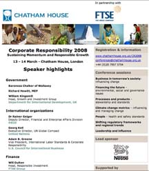 Chatham House, FTSE and Nestle event